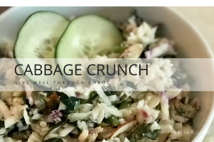 healthy cabbage crunch salad