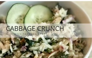 healthy cabbage crunch salad