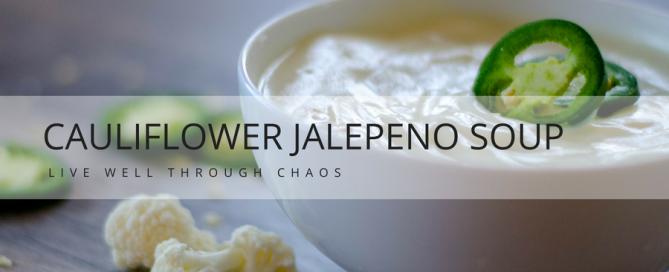 cauliflower jalapeño soup