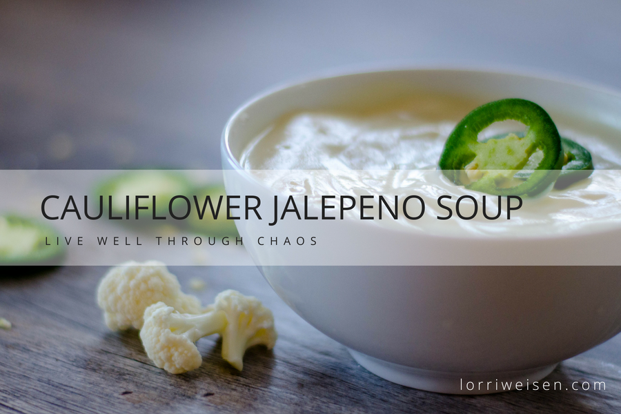 cauliflower jalapeño soup