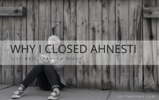 CLOSED ahnesti haircare